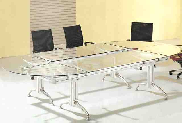 dior glass top conference boardroom table