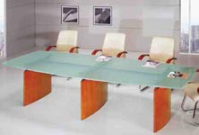 treazure glass top boardroom table