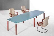 glory glass top boardroom table