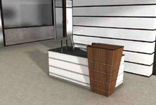 capital modern reception desk