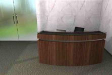 crescent modern reception desk