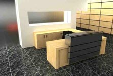 impressio modern reception desk