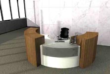 loggia modern reception desk