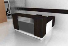 modular modern reception desk