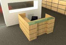garrison modern reception desk