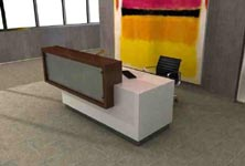 portico modern reception desk