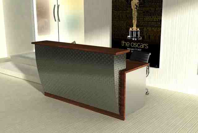 Profil Reception Desk This Futuristic Stainless Steel