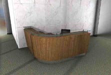 quadro modern reception desk