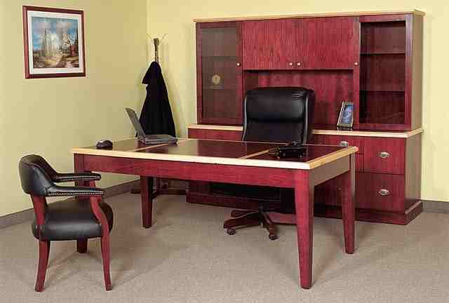 regal executive table desk and wall unit