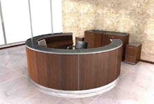 rotunda modern circular reception desk