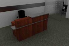 theroum modern reception desk