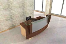 torus modern reception desk