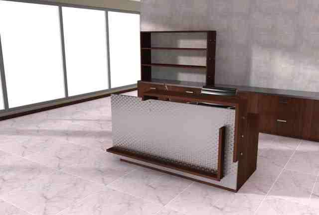 vertigal reception desk
