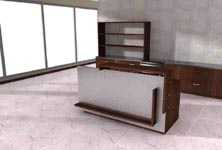 vertigal modern reception desk