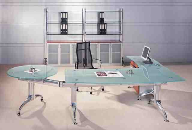 vitra glass modern executive desk