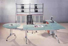 Vitra moden glass executive desk