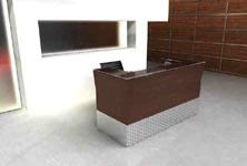 volute modern reception desk