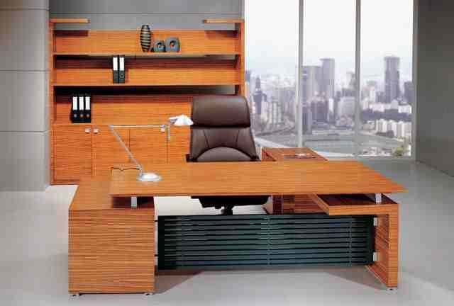 Zebrano modern executive furniture