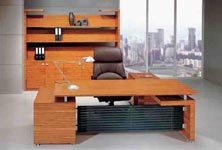 zebrano modern executive desk