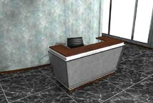 amfora modern reception desk