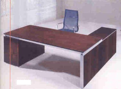 coby veneer modern executive desk with return