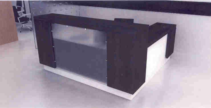 modular veneer modern reception desk