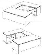 "Personal File ""U"" Desk"