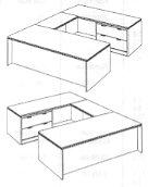 """Lateral File """"U"""" Desk"""