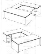 """Executive """"U"""" Desk"""