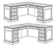 """Exec """"L"""" Desk"""