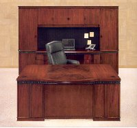 Americus Art Deco inspired home and office veneer discount Desk