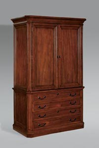 Storage cabinet with two drawer lateral file