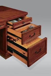 Full pedestal drawer detail