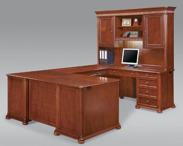 "camden series from dmi office furniture ""U"" arrangement traditional styled office furniture for home or office."