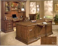 Estes Park Oak finish discount office desks