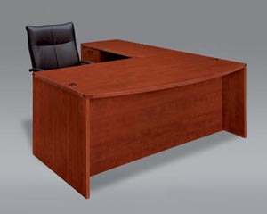 "Executive bow front ""L"" desk"