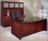 Summit Reed veneer home office desk