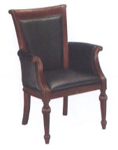 high back black leather guest chair