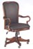 goose neck arm executive desk chair