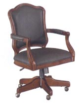 shaped high back desk chair