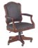 shaped back executive desk chair