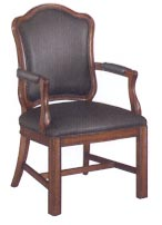 shaped high back guest chair