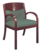 upholstered back guest chair