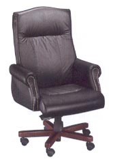 traditional roll arm chair in black leather