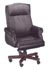 traditional black leather rool arm nail trim executive chair