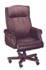 traditional burgundy leather rool arm nail trim executive chair