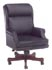 Executive traditional black leather nail trim chair