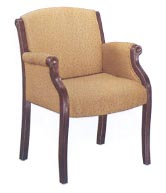 gold fabric upholstered guest chair