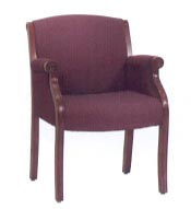 burgundy upholstered guest chair