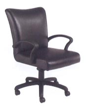 contemporary mid-back desk chair